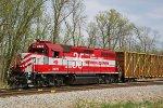 WAMX 3928 shoves its L469 train into the industrial park spur