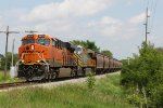 BNSF 8215 approaches CR M with the grain loads