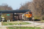 BNSF 8263 storms the hill with more Avalon grain MTs
