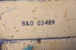 Ancient Loader Serial Number from the B&O