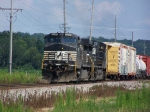 A Pair of Horses Lead Mixed Freight West on the BNSF's Aurora Sub