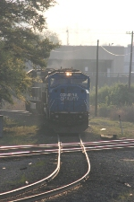 "Conrail Quality- NS patch 6751 ""sd 60"" comes across the diamond"