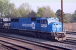 "Conrail Quality 6751- NS Patch"" SD 60"" heads around the Wye to come back through the diamond"