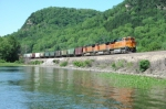 BNSF SB Unit Grain Train