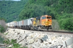 SB Afternoon Intermodal at Lock/Dam No. 9