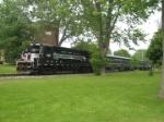 FGLK 2303 trailing the 2 car 2 locomotive consist on its way to Cayuga NY