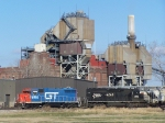 GTW 4994 & IC 6260 Lead their Little Mixed Freight Consist After Crossing the Mississippi