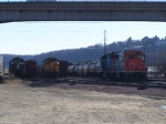 IC 6005, BNSF 5342 & GTW 4994 Await Orders in the CN/IC Yard