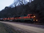 BNSF 8630 Rolls into Town at Dawn