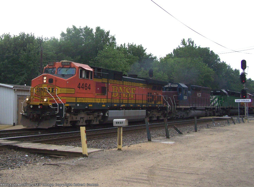Two Leasers Sandwiched In Between Two BNSF Motors