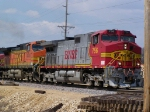 BNSF 756 Leads a Freight Train South