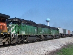 Three SD40-2s Give Aid In Pulling Trailers and Containers