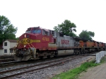 A BNSF Grain Train Operates on CN Trackage by a CN Crew on its Way to Chicago