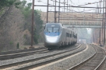 AMTK 2007 takes up the rear of a push-pull Acela as a southbounder approaches
