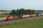 Northbound Auto Train With CN 8016, BCOL 4616, and UP 4930