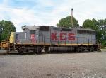 Tied Down KCS Locomotive