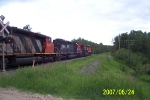 CN 2582 with some help from Illinois Central 6251 and CN 5303