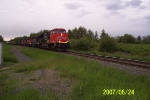CN 2582 roars west with mixed freight