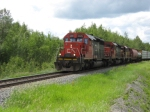 CN 5379 eastbound with a load of lumber