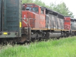 CN 5336 brings up the rear on this westbound