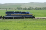 6094 is in the lead for todays HUBF manifest east of Cottonwood, SD