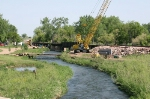 Beautiful south bridge in Belle Fourche being rebuilt