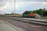 BNSF 2314 & BNSF 8008 with a rock train