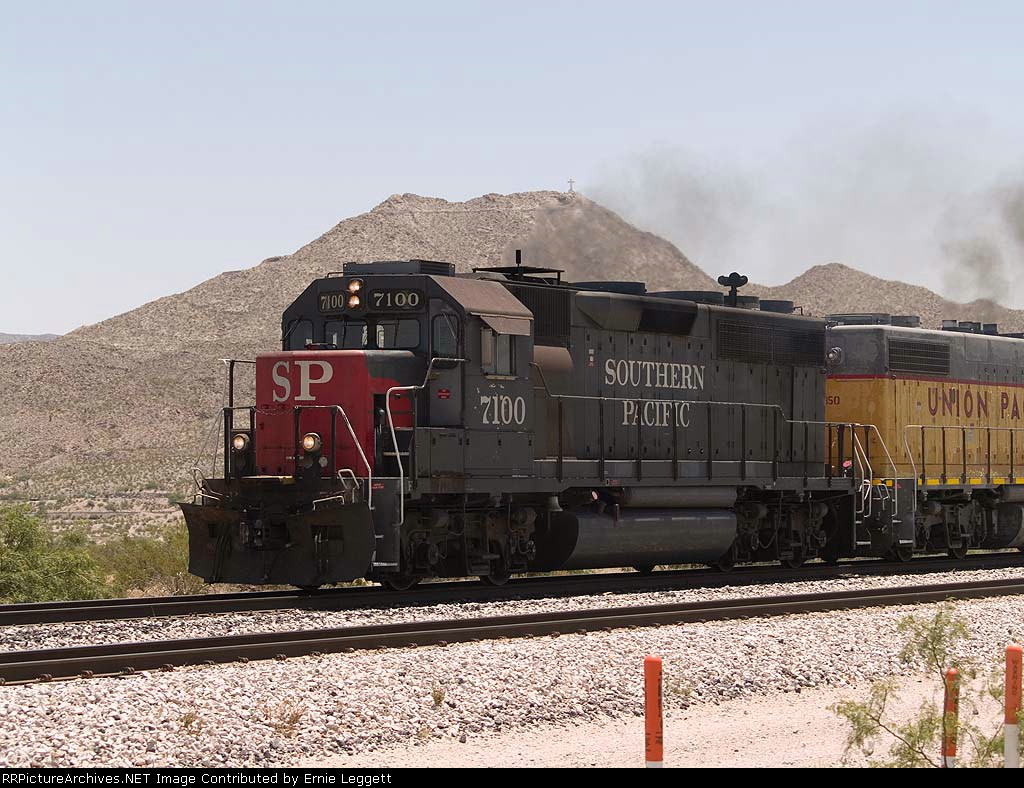 SP 7100 leads a WB local at 12:17pm