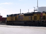 UP 8446 #2 engine light power in an EB move at 10:12am