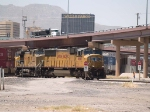 UP 4645 leads an EB intermodal at 12:13pm