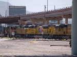 UP 8573 #4 power in a WB intermodal at 1:30pm