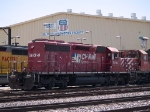 CP 5604 waits by the locomotive facility at 1:11pm