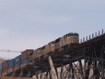 UP 4988 leads an EB intermodal at 12:44pm