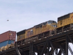 UP 5207 #3 power in an EB intermodal at 12:44pm