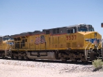 UP 5537 #3 power in an EB intermodal at 12:26pm