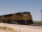 UP 4717 leads an EB doublestack at 12:40pm