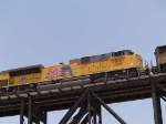 UP 8557 #2 power in an EB doublestack at 1:11pm