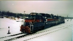 Sd24 643 and company backing onto train POWA Rigby Yd, Feb 1999