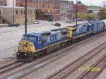 CSX train Q616 heads south