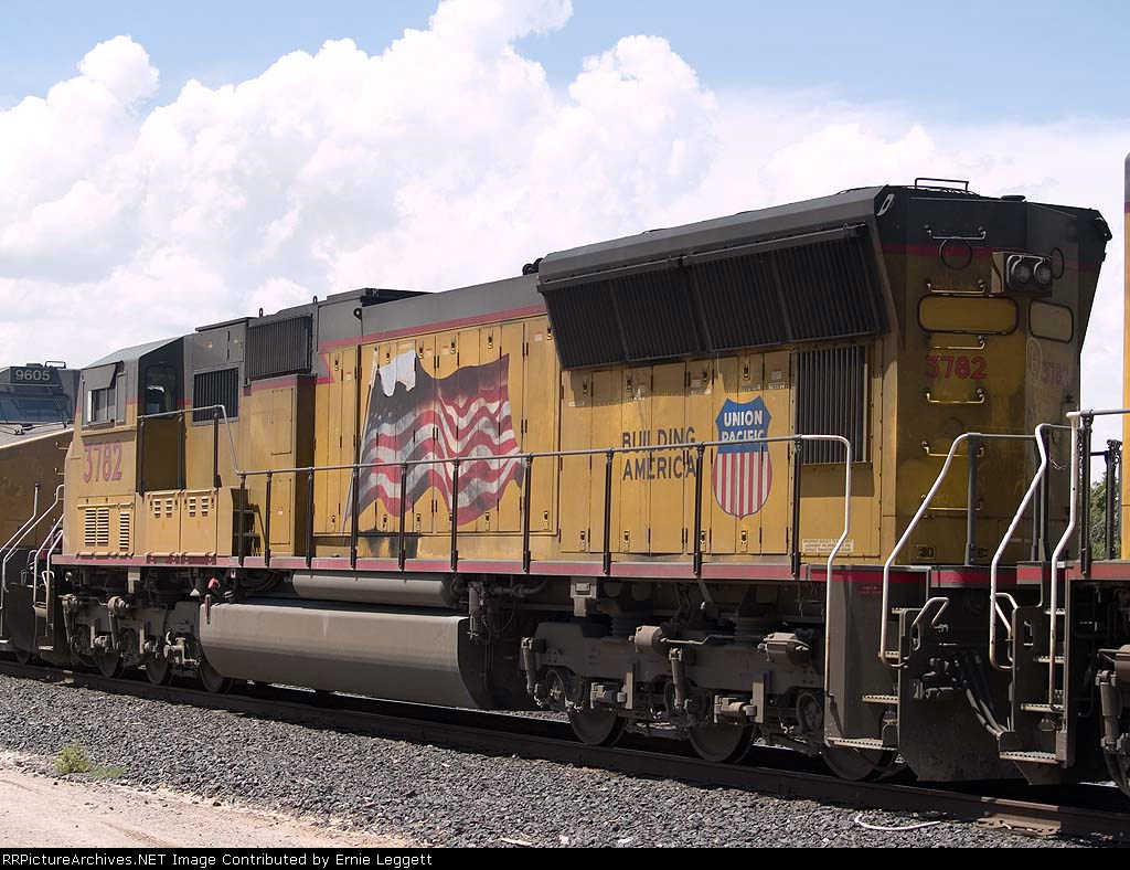 UP 3782 #2 power in an EB intermodal at 2:29pm