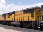 UP 4608 #3 power in an EB intermodal at 2:13pm
