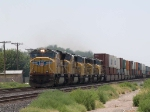 UP 4759 leads a WB intermodal at 12:03pm