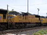 UP 4451 #2 power in a WB intermodal at 12:03pm