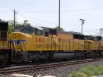 UP 2483 #3 power in a WB intermodal at 12:03pm
