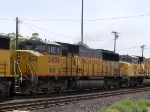 UP 2406 #4 power in a WB intermodal at 12:03pm