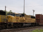 UP 2518 #5 power in a WB intermodal at 12:03pm