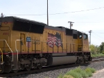 UP 4966 #3 power in a WB light power move at 12:17pm