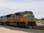 UP 4966 leads an EB intermodal at 12:30pm