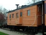 Milwaukee-built 992114 Ribside caboose, b.1951