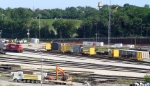 P+H Harnischfeger components on company flats in Muskego Yard